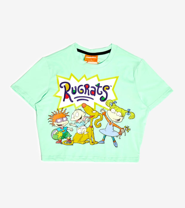 Essentials  Rugrats Group Crop Tee  Green - NKA0108-MNT | Jimmy Jazz