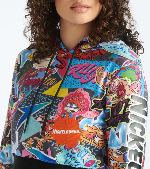 Essentials  I Love The 90s Crop Hoodie  Multi - NKC0086-MUL | Jimmy Jazz