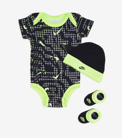 Nike  Hat Coveralls and Booties 3 Piece Set  Black - NN0629-023 | Jimmy Jazz