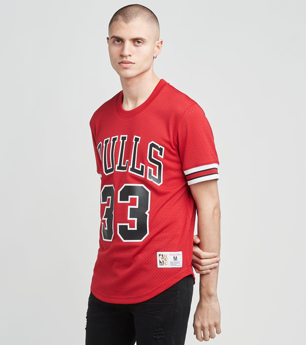 Mitchell And Ness  Chicago Bulls Scottie Pipen 33 Jersey  Red - NNMPSC19040CBU-SCAR | Jimmy Jazz