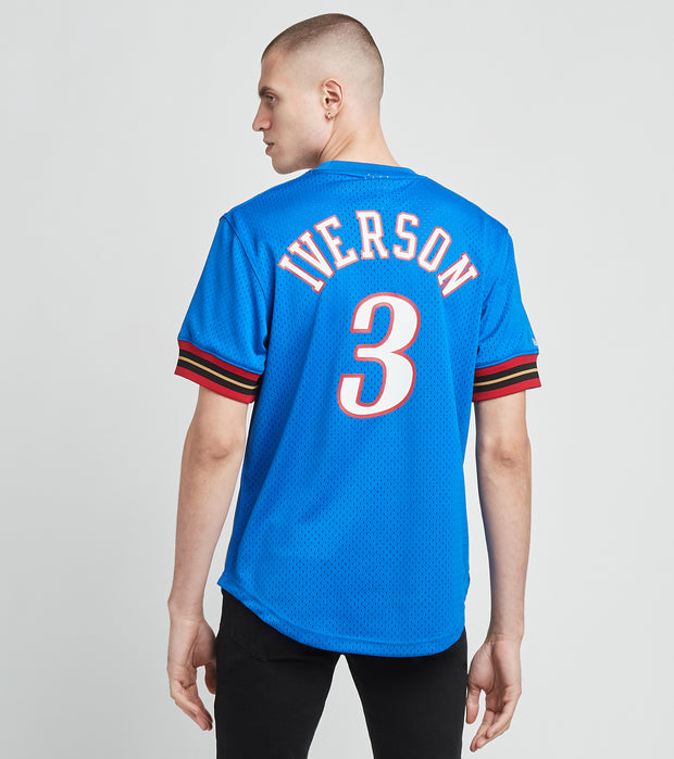 Mitchell And Ness  76ers Allen Iverson 3 Jersey  Blue - NNMPSC19040P76-ROYA | Jimmy Jazz