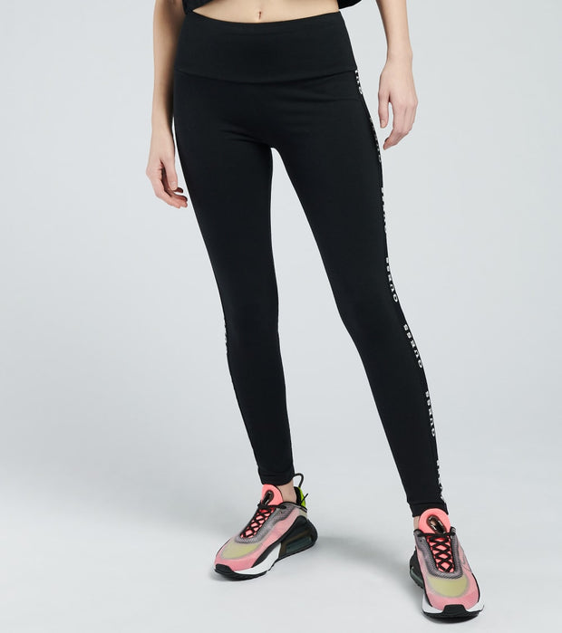 Guess  Taped Leggings  Black - O1GA08KABR0-JBLK | Aractidf