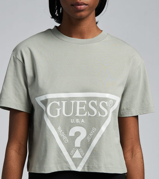 Guess  Guess Trige Logo Crop Tee  Grey - O1GA21K8HM0-G9L2 | Jimmy Jazz