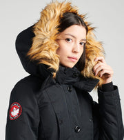 Essentials  Long Parka  Black - OLCW601H-BLK | Jimmy Jazz