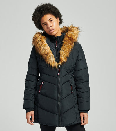Essentials  Long Puffer Coat  Black - OLCW641H-BLK | Jimmy Jazz