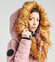Essentials  Long Puffer Coat  Pink - OLCW641H-DRS | Jimmy Jazz