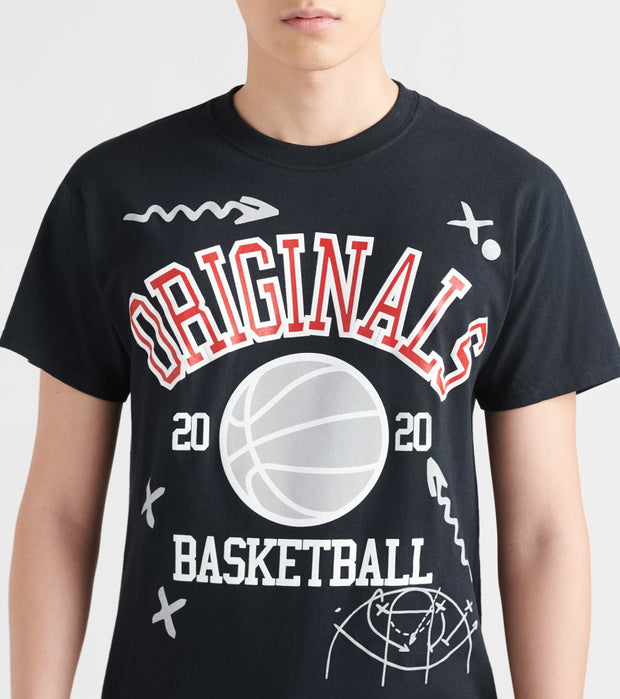 By Kiy  Basketball Court Tee  Black - OR2002-122 | Jimmy Jazz