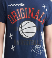 By Kiy  Basketball Court Tee  Blue - OR2003-135 | Jimmy Jazz