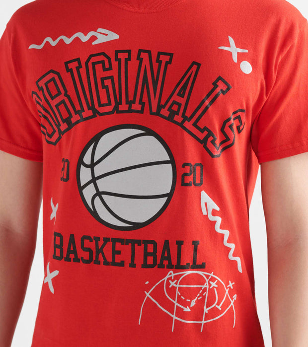 By Kiy  Basketball Court Tee  Red - OR2004-221 | Jimmy Jazz