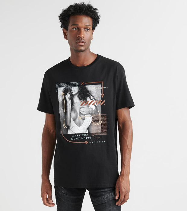 Outrank  The Right Moves Tee  Black - OR860-BLK | Jimmy Jazz