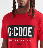 Outrank  G Code Tee  Red - OR870-RED | Jimmy Jazz