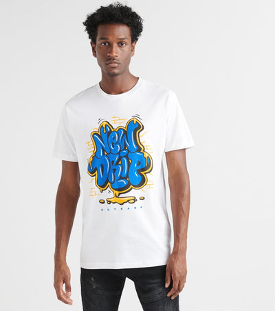 Outrank  New Drip Tee  White - OR901-WHT | Jimmy Jazz