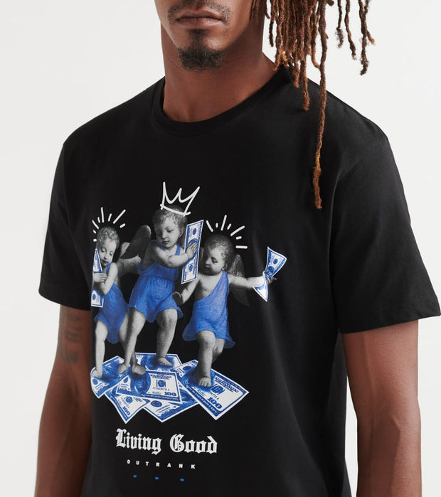 Outrank  Living Good Tee  Black - OR933-BLK | Jimmy Jazz