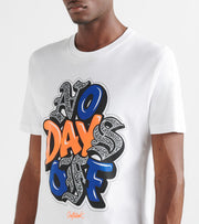 Outrank  No Days off Tee  White - OR937-WHT | Jimmy Jazz