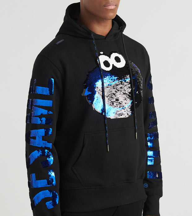 DE.KRYPTIC  Cookie Monster Sequin Hoodie  Black - OW8VRSSES-BLK | Jimmy Jazz