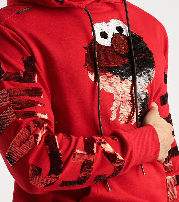 DE.KRYPTIC  Elmo Sequin Hoodie  Red - OW8VRUSES-RED | Jimmy Jazz