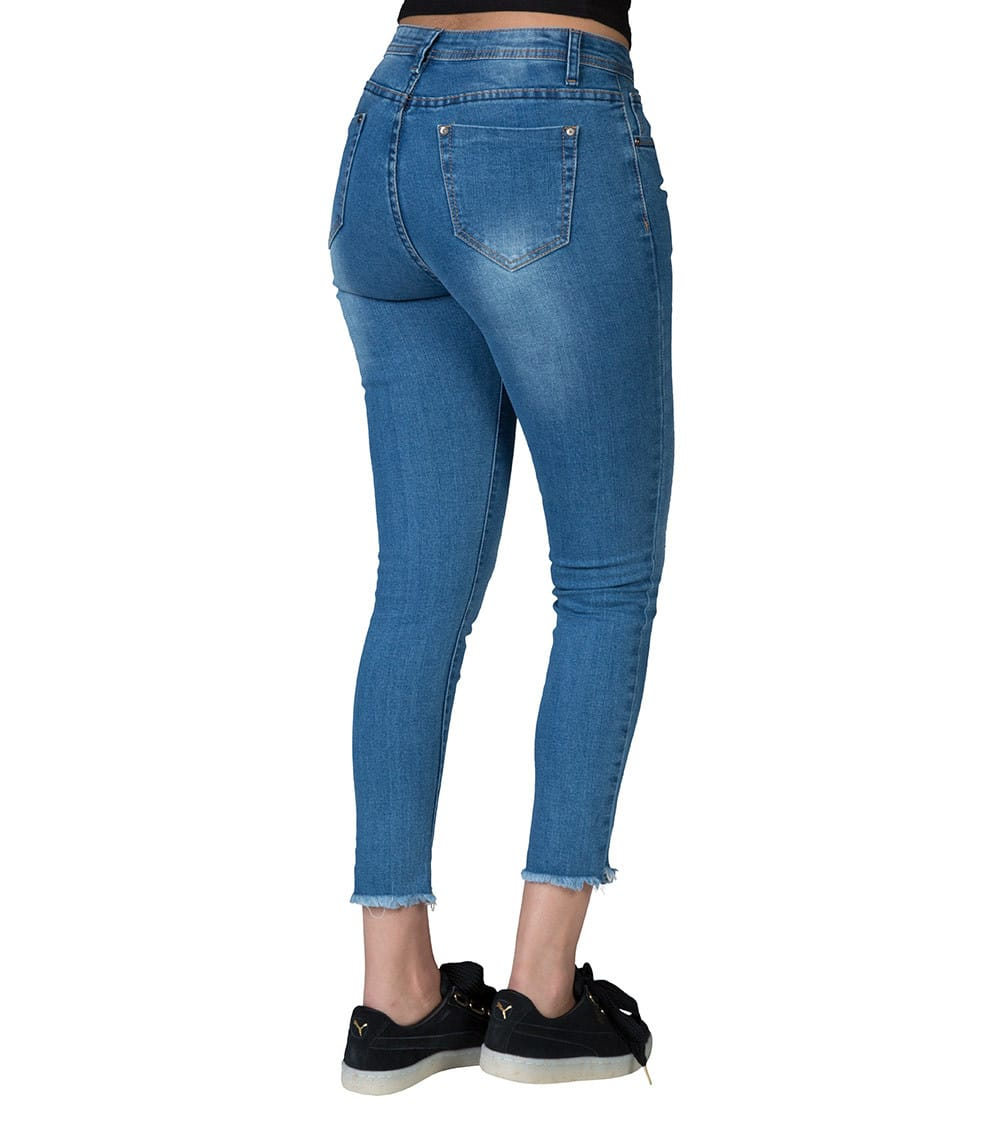Essentials  Front Illusion Pleat Jean  Blue - P10814-BLU | Jimmy Jazz