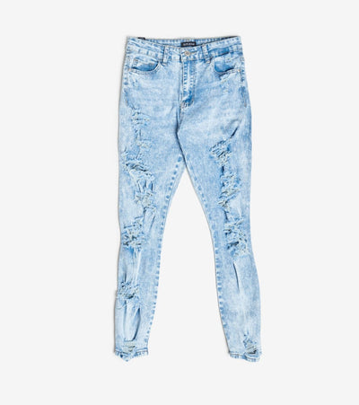 Essentials  Destroyed Skinny Jeans  Blue - P20106-ACD | Jimmy Jazz
