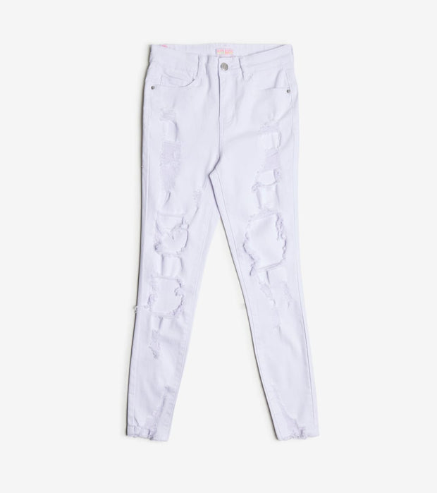 Essentials  Color Twill Skinny Ankle Pants  White - P2041804-WHT | Jimmy Jazz