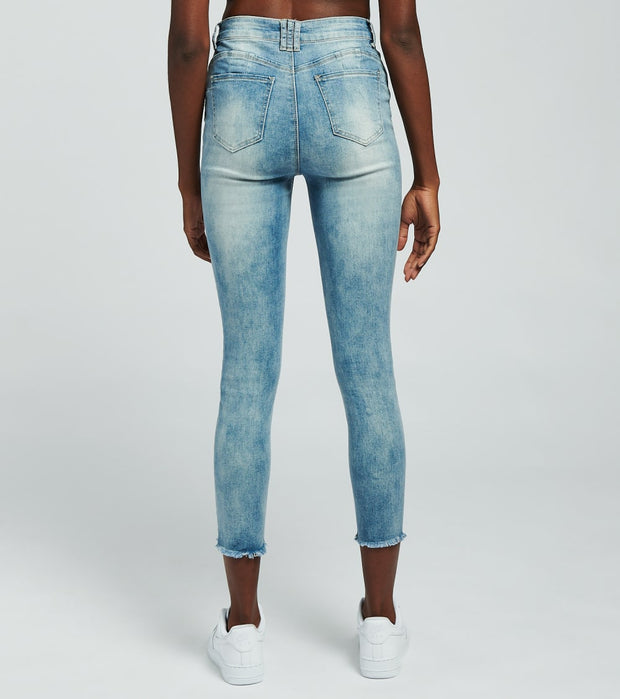Essentials  Potassium Destructed Skinny Jeans  Blue - P20936-POT | Jimmy Jazz