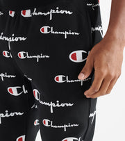 Champion  Reverse Weave All Over Print Joggers  Black - P3700-8S | Jimmy Jazz
