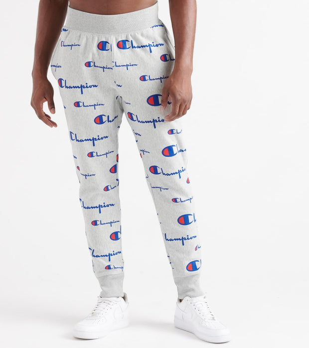 Champion  Reverse Weave All Over Print Joggers  Grey - P3700-8U | Jimmy Jazz