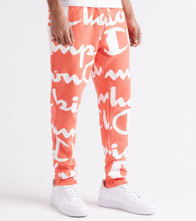 Champion  Reverse Weave All-Over Print Joggers  Pink - P370011567-LNZ | Jimmy Jazz