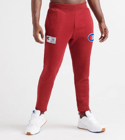 Champion  Century Joggers W Chenille Patch  Burgundy - P4310550155-WFU | Jimmy Jazz
