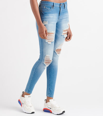 Essentials  Mid Rise Cloudwash Destruct  Blue - P736656-R1054 | Jimmy Jazz