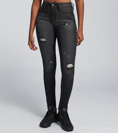 Essentials  Super Highrise Skinny Jeans  Black - P932270-1228W | Jimmy Jazz