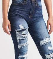 Essentials  YMI Dream Jean R and R Destruct  Navy - P967268-S1205 | Jimmy Jazz