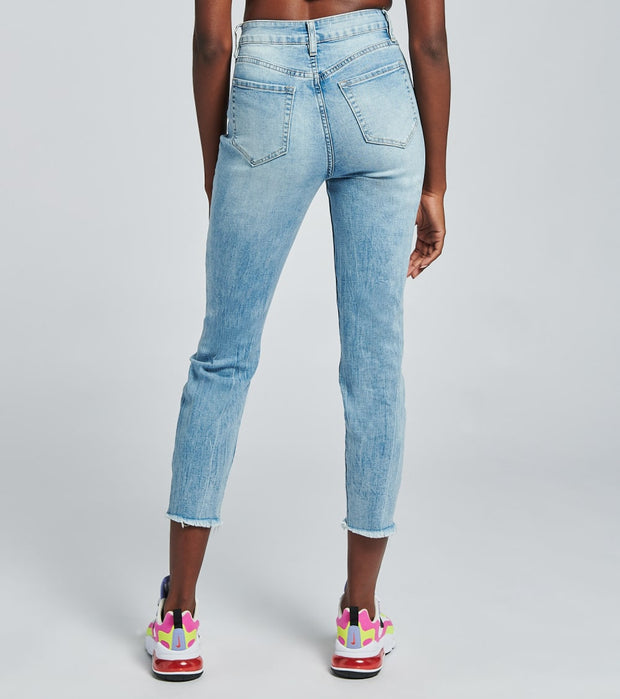 Essentials  High Rise Ankle Destroy Jeans   Blue - P967368-1206C | Jimmy Jazz