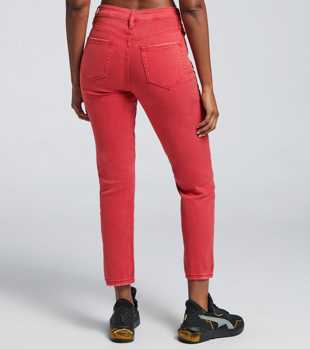 Essentials  Dream High Rise Jeans  Red - P983369-216VR | Jimmy Jazz