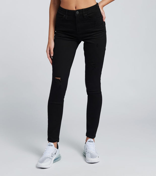 Essentials  High Rise Skinny Lycra Denim Jeans  Black - P984029-W1710 | Jimmy Jazz