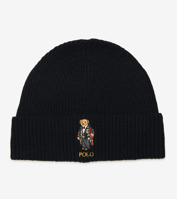 Polo Ralph Lauren  Solid Toggle Bear Cuff Hat  Black - PC0680-001 | Jimmy Jazz
