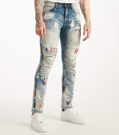 Decibel  Multi Paint Jean  Blue - PJ20018D-ULB | Jimmy Jazz