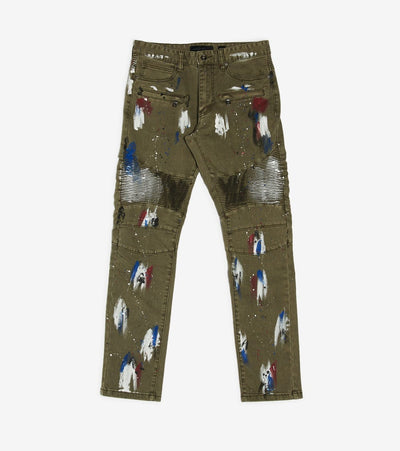 Decibel  Multi Paint Pant  Green - PJ20018T-OLV | Jimmy Jazz
