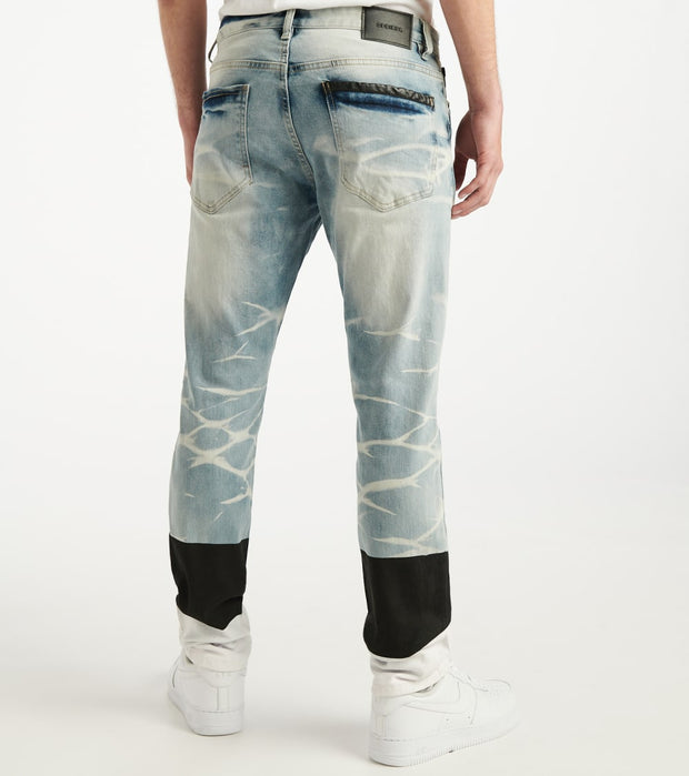 Decibel  Ripped Colorblock Jean  Blue - PJ20022-SKY | Jimmy Jazz