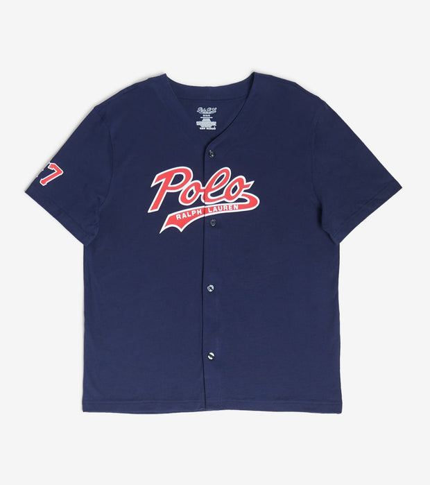 Polo  Baseball Large Logo Shirt  Navy - PK61SR-2G1 | Aractidf