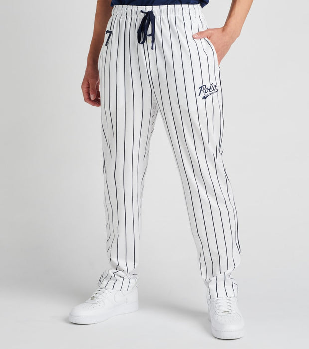 Polo  Knit Jersey Logo Pants  White - PK64SR-2I5 | Jimmy Jazz