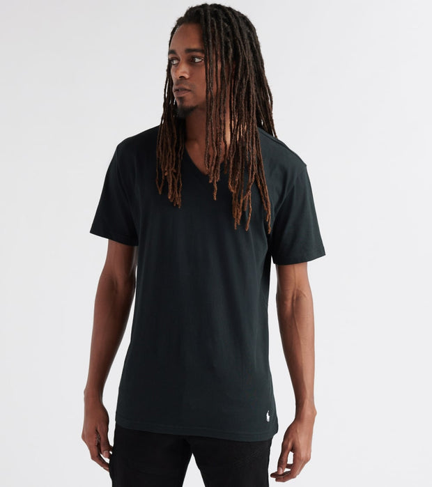 Polo  V-Neck Tee  Black - PL84FR-7OS | Jimmy Jazz