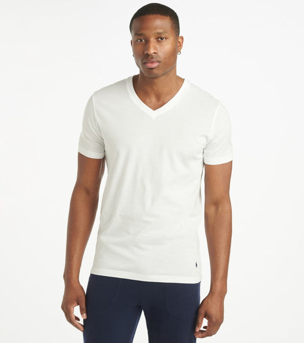 Polo  Supreme Comfort V-Neck Tee  White - PL84FR2-WHD | Jimmy Jazz