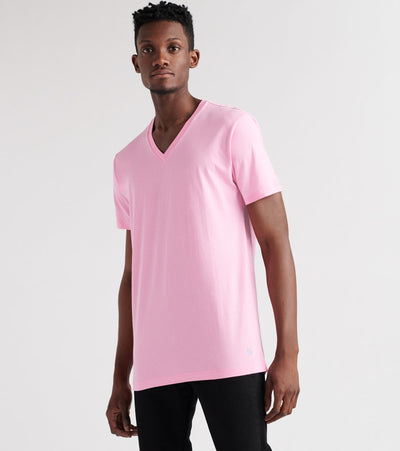 Polo  V-Neck Tee  Pink - PL84SF-0JD | Jimmy Jazz