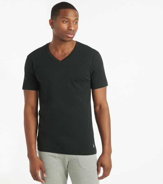 Polo  Supreme Comfort V-Neck Tee  Black - PL84SF-2IP | Jimmy Jazz