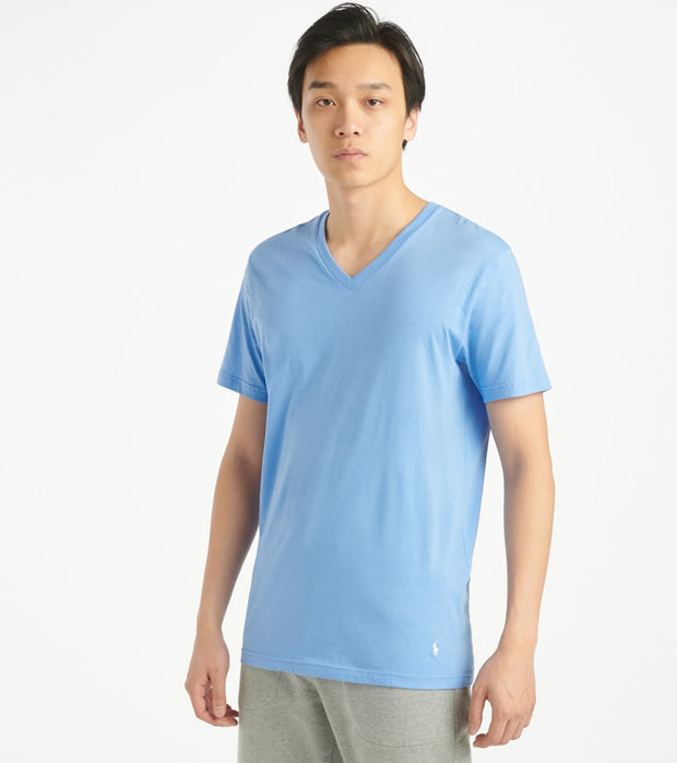 Polo  Supreme Comfort V-Neck Tee  Blue - PL84SF-2L3 | Jimmy Jazz