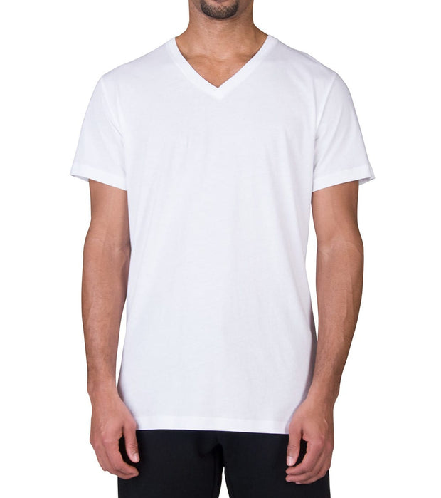 Polo  Polo V-Neck Tee  White - PL84SF-JR0 | Jimmy Jazz