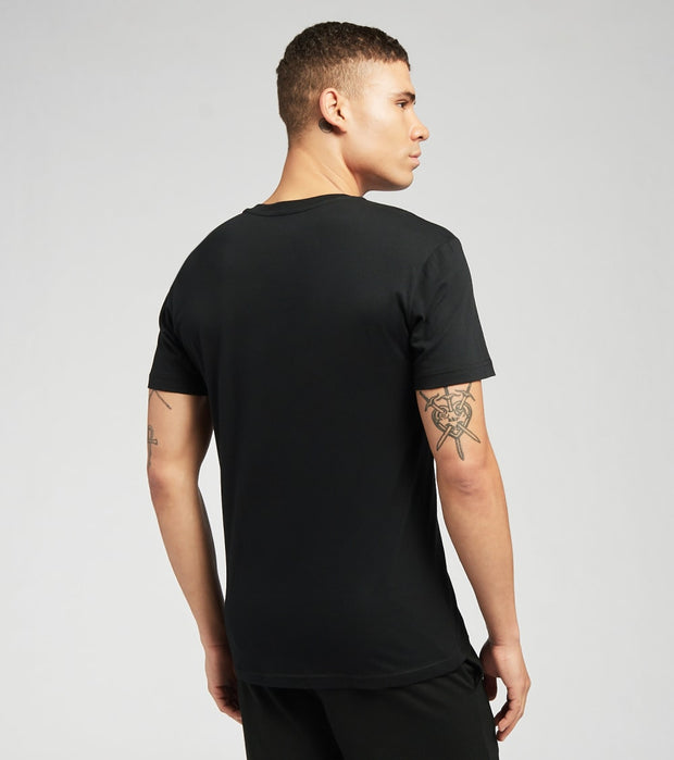 Polo  Short Sleeve V Neck Tee  Black - PL84SF-PBD | Jimmy Jazz