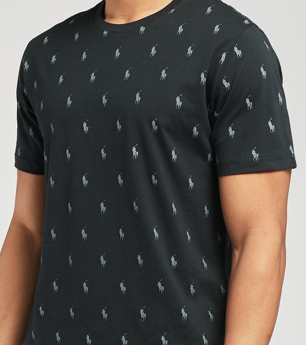 Polo  All Over Print Logo Graphic Tee  Black - PL88SF-LGD | Jimmy Jazz