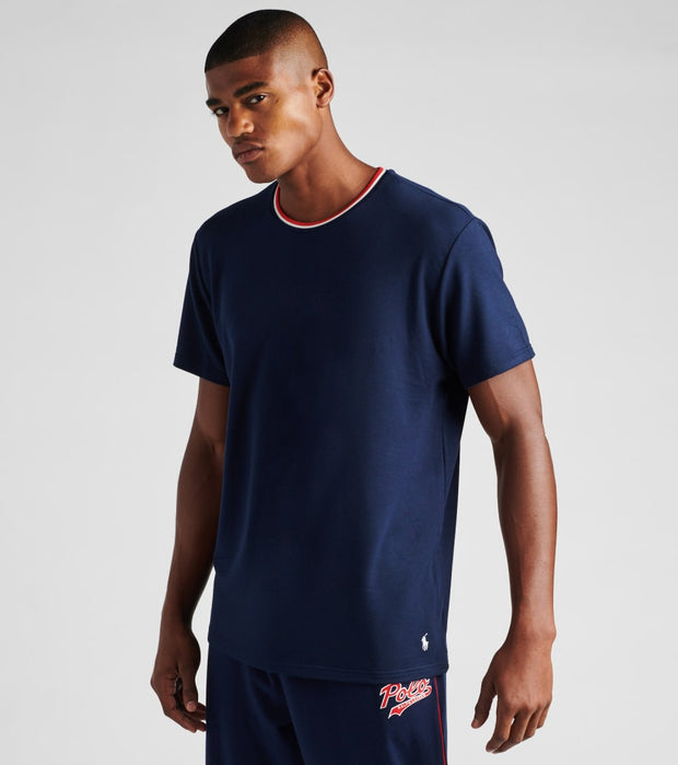 Polo  Solid Short Sleeve Crew Neck Tee  Navy - PP03SR-9VD | Jimmy Jazz
