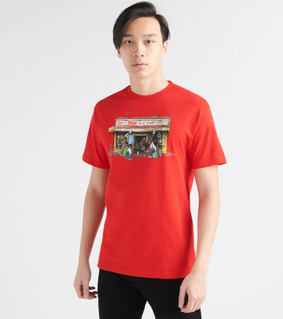 Dgk  Bodega Tee  Red - PTM1796-RED | Jimmy Jazz